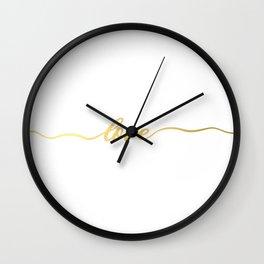 golden love Wall Clock