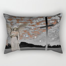 Surreal Angel Lady Woman Cloud Star Sky Spiritual Dunes Art A330 Rectangular Pillow