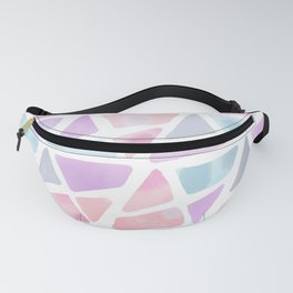 Blush Pink Lavender Watercolor Triangles Pattern Fanny Pack