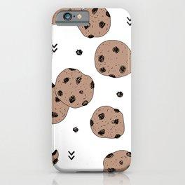 Chocolate chip cookie jar illustration pattern iPhone Case