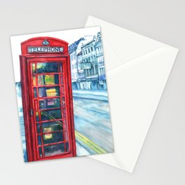 Red Phone booth, London. Stationery Cards