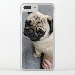 Pug Hug Clear iPhone Case