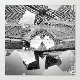 Summer space, smelting selves, simmer shimmers. 23, grayscale version Canvas Print