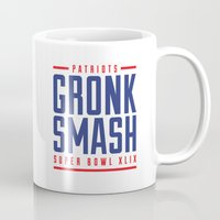 patriots Mugs featuring Gronk Smash Superbowl by PatsSwag