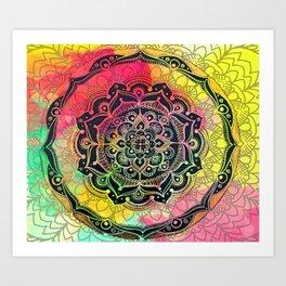 Rainbow Mandala Art Print
