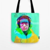 beastie boys Tote Bags featuring Gioconda Music Project · Beastie Boys · Mike D. by Marko Köppe