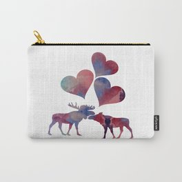 Moose love art Carry-All Pouch