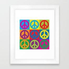 Pop Art Peace Symbols Framed Art Print