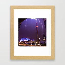Touching Tower Tops (Square) Framed Art Print