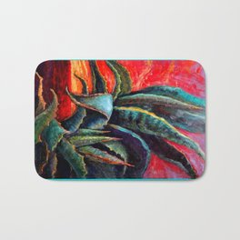 Southwest-western Style Desert Agave in Sunrise Bath Mat