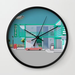 No Vacancy Wall Clock