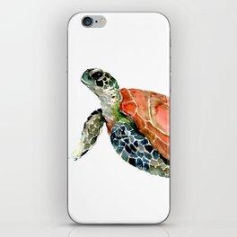 Sea Turtle, turtle art, turtle design iPhone Skin