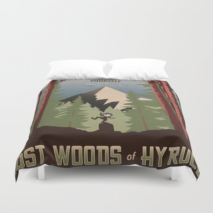 Legend of Zelda- Find Yourself in the Lost Woods Duvet Cover