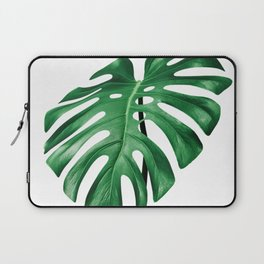 Split leaf philodendron leaf isolated on white Laptop Sleeve