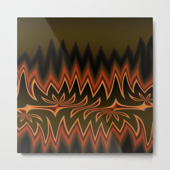 Fractal Tribal Art in Autumn Metal Print