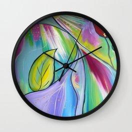 """Exploration"" | original painting by Mimi Bondi Wall Clock"