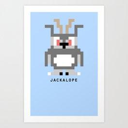 8 Bit Jackalope Art Print