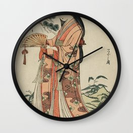 Sotoori Hime by Eishi Hosoda (1756-1829) a traditional Japanese Ukyio-e style  of a traditional Japa Wall Clock
