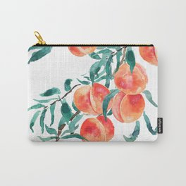 peach watercolor Carry-All Pouch