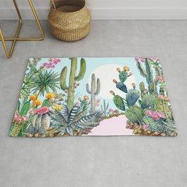 cactus path 1 Rug