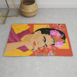 Frida - a colorful mind Rug