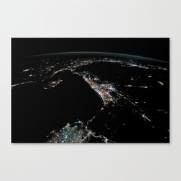 Night Lights of the Levant Canvas Print
