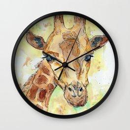 A Little Giraffe Wall Clock