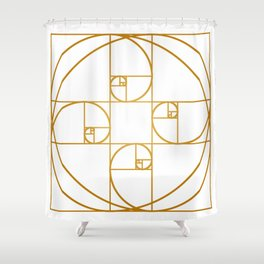 Golden Sprout Shower Curtain