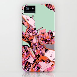 Abstract Map Salem MA iPhone Case