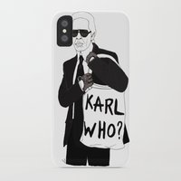 karl iPhone & iPod Cases featuring Karl by Les Gutiérrez