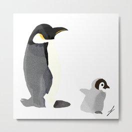 Penguins at Play Metal Print
