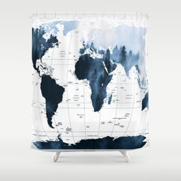 ALLOVER THE WORLD-Woods fog map Shower Curtain