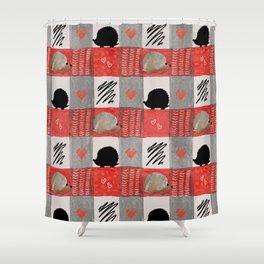 Hedgie Plaid Shower Curtain