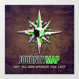 Journey Map Canvas Print