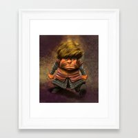 tyrion Framed Art Prints featuring Tyrion Lannister by Dennis Jones