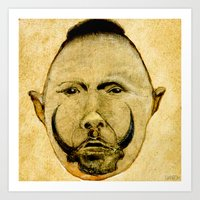 tribal Art Prints featuring tribal  by Joe Ganech