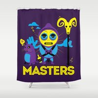 skeletor Shower Curtains featuring SKELETOR by Maioriz Home