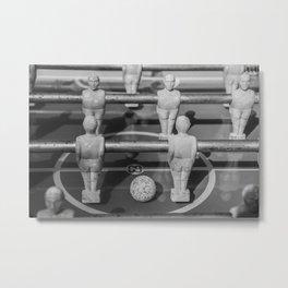 Table football black white Metal Print