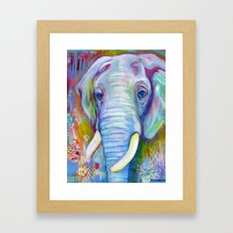 Utopian Elephant Framed Art Print