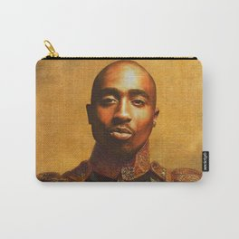 Tupac General Portrait Painting | Hip Hop Fan Art Carry-All Pouch
