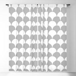 Fan Pattern 321 Gray Blackout Curtain