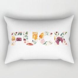 Flowery Language: FUCK Rectangular Pillow