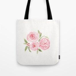 Christmas Rose-watercolor Tote Bag