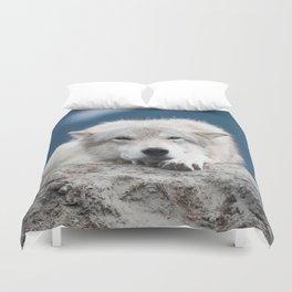Sleepy Wolf Duvet Cover