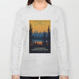 Algonquin Park Poster Long Sleeve T-shirt
