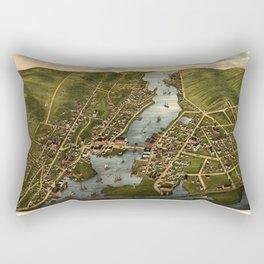 Map Of Mystic 1879 Rectangular Pillow