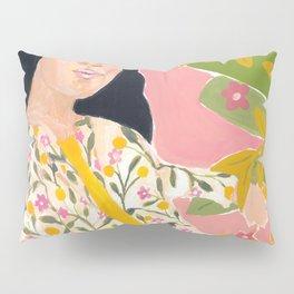 Floral Lady Pillow Sham