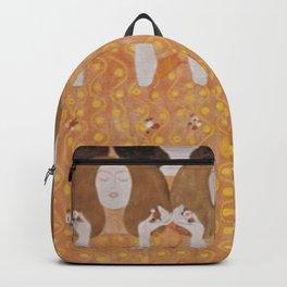 Gustav Klimt Choir of Angels Or Beethoven Frieze Backpack