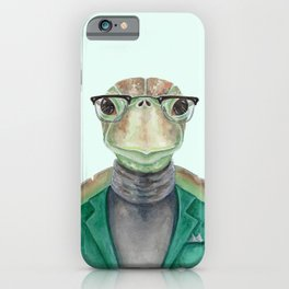 T is for a Turtle in a Turtleneck   Watercolor Turtle iPhone Case