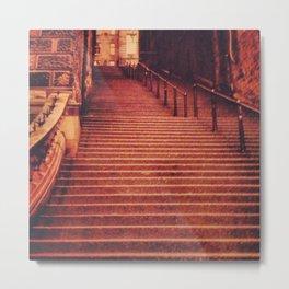 Edinburgh Stairs Metal Print